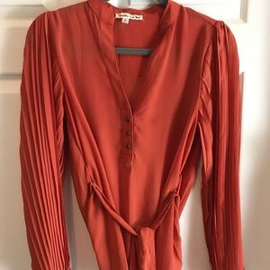 ModCloth orange-rust blouse Size small
